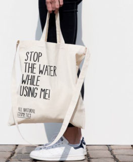 stop the water while using me, tote bag, cotton, handbag, accessory