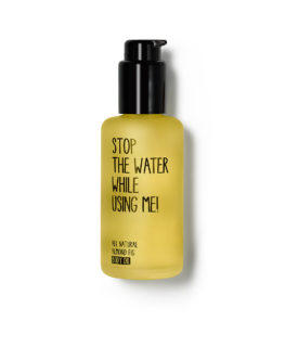 stop the water while using me, body oil, organic skincare, natural beauty, organic cosmetics