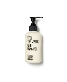 stop the water while using me, organic skincare, natural beauty, hand cream, acacia honey