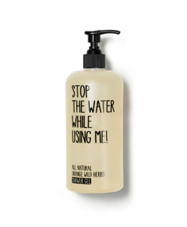 stop the water while using me, organic skincare, vegan cosmetics, shower gel, body wash