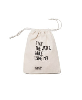 stop the water while using me, cotton, tote bag, toiletries, accessories