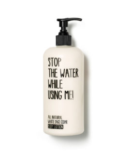 stop the water while using me, organic skincare, vegan cosmetics, body lotion, soft skin