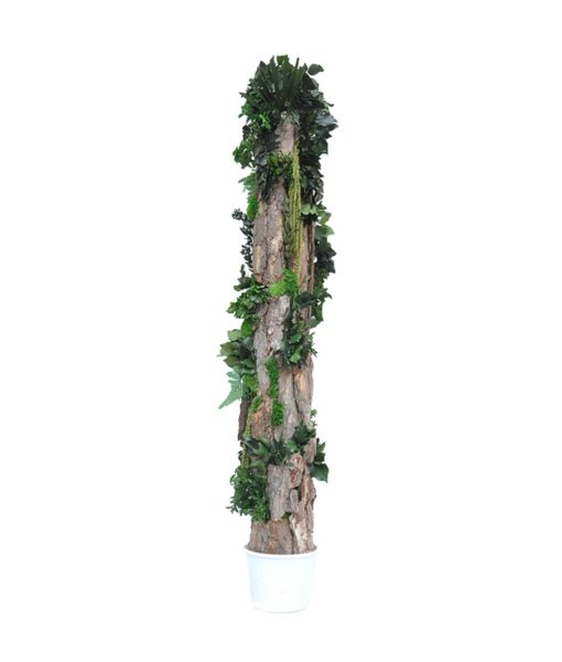 Forest Totem, preserved Decor Totem, preserved trees, stabilized plants, green verticals