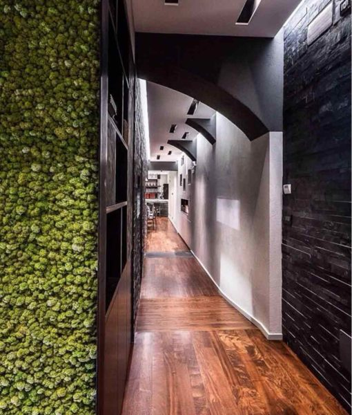 green verticals, moss wall, moss tiles, preserved moss, moss wall art
