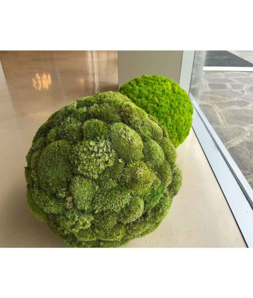 Polemoss, preserved deco sphere, polemoss ball, stabilized plants, preserved foliage