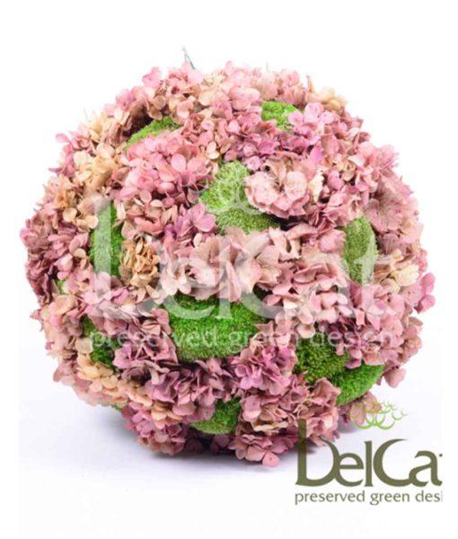Hortensia Polemoss, preserved deco sphere, Hortensia polemoss ball, stabilized plants, preserved foliage
