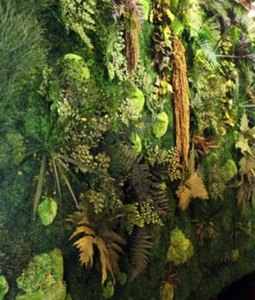 forest wall, preserved jungle wall, preserved plant wall, stabilized plants, green verticals