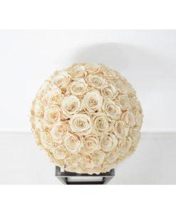 Chloe infinity roses arrangement, flower arrangement, preserved roses, champagne, urn vase