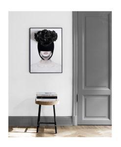 Chloe art, infinity roses, black roses, preserved roses, poster art