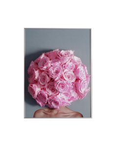 Chloe art, infinity roses, baby pink roses, preserved roses, poster art