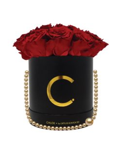 Chloe Flowerbox, Infinity Roses, Classic Red, Preserved Flowers, Cyprus, Florist, Concept Store, KONTOR 202, rose bouquet