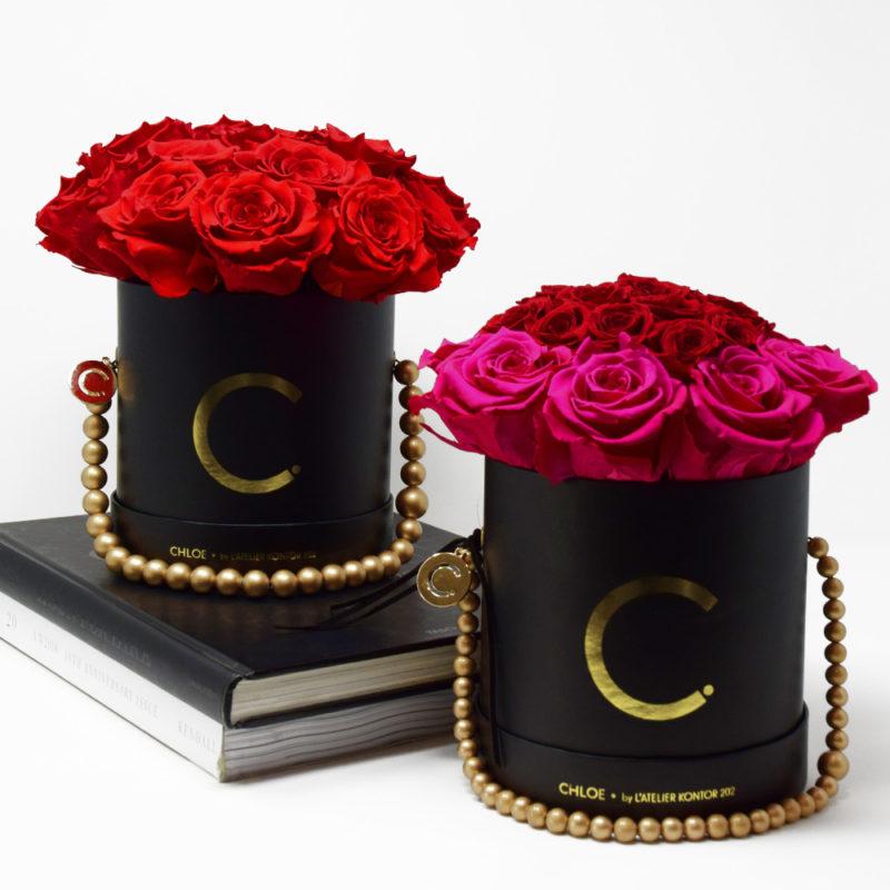 Chloe Flowerbox, Infinity Roses, Infinity Roses, Red Roses, Gift For Her