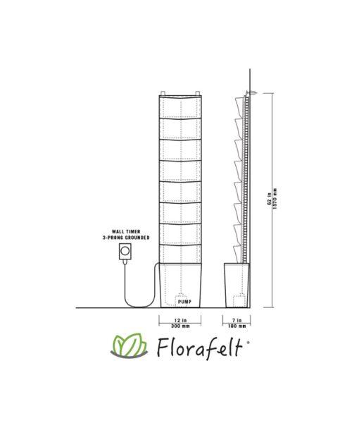 florafelt, vertical garden, compact kit, plants on the wall, green verticals
