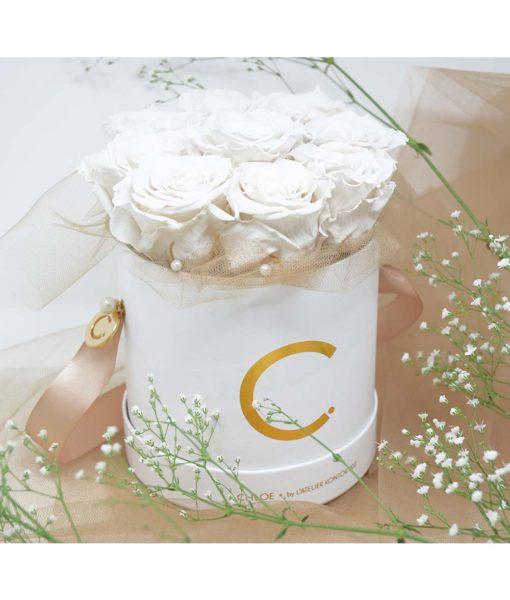 Chloe Flowerbox, Infinity Rose, Preserved Flowers, Wedding Flowers, Wedding Edition, Wedding Gift