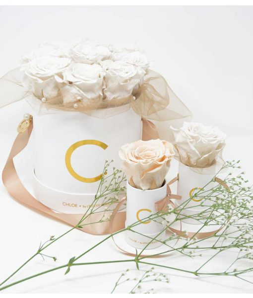 Chloe Flowerbox, Infinity Rose, Preserved Flowers, Wedding Flowers, Wedding Edition, Wedding Gift