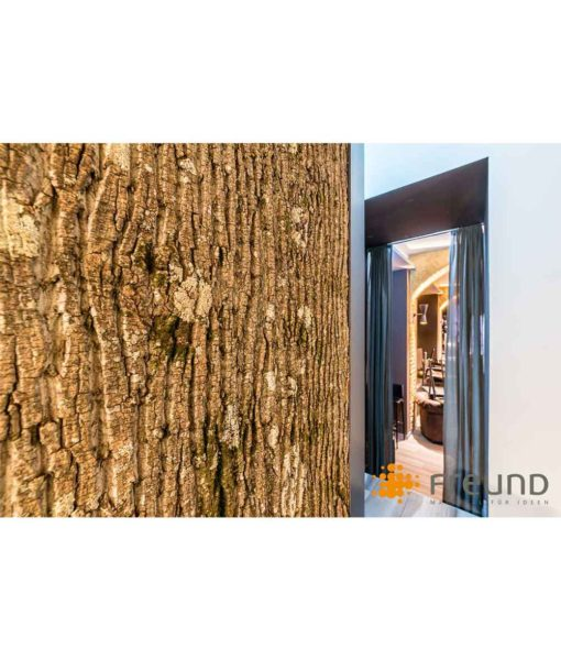 poplar bark panels, bark house, freund gmbh, interior wall siding, exterior wall siding