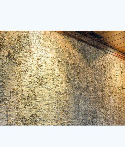 yellow birch bark, designer panels, bark house, freund gmbh, interior wall siding