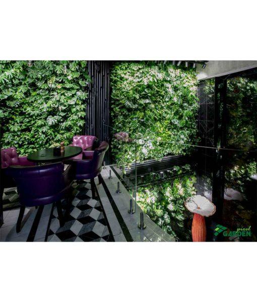 living green wall, garden spot pixels, vertical garden, garden on the wall, pixel garden