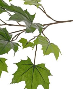 artificial maple branch, artificial plants, indoor and outdoor, uv-safe